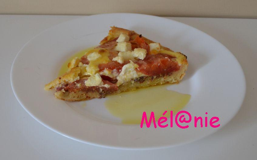 tarte feuilletée aux tomates et à la féta
