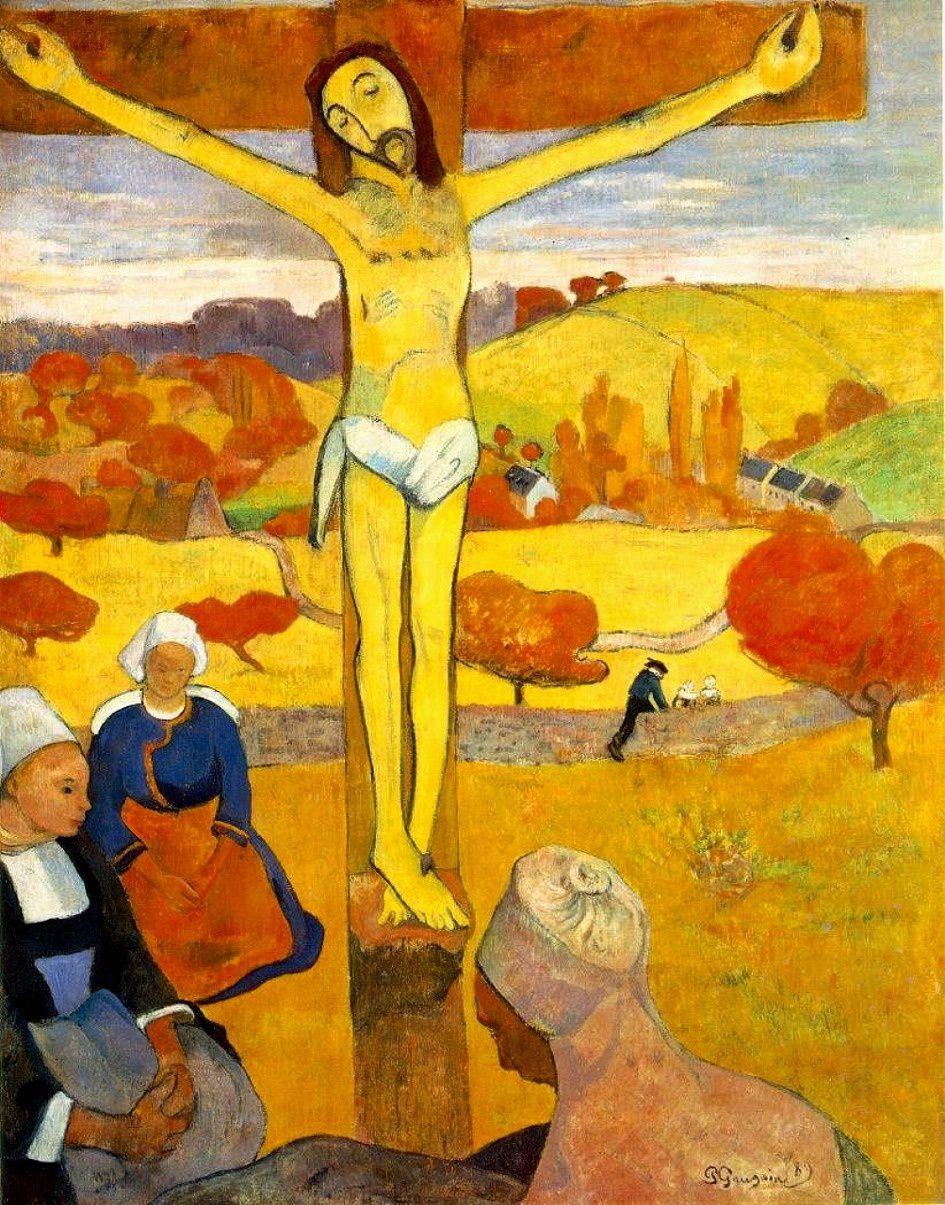 """J'aime la Bretagne, j'y trouve le sauvage, le primitif. Quand mes sabots résonnent sur ce sol de granit, j'entends le ton sourd, mat et puissant que je cherche en peinture """" Gauguin 1888.."""