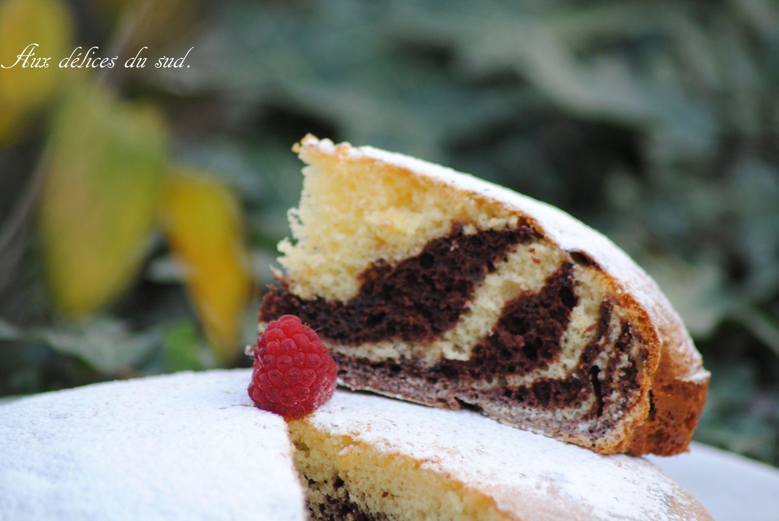 Gâteau zébré .