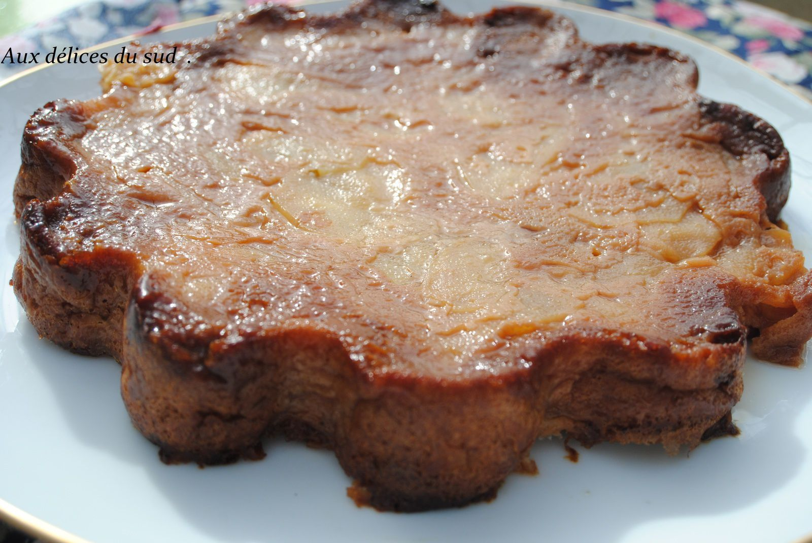 Gâteau invisible aux poires et chocolat .
