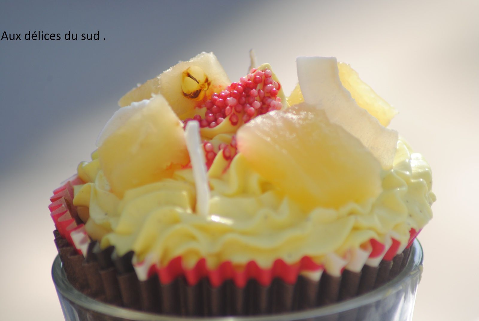 Cupcakes à la  framboise et pina colada .