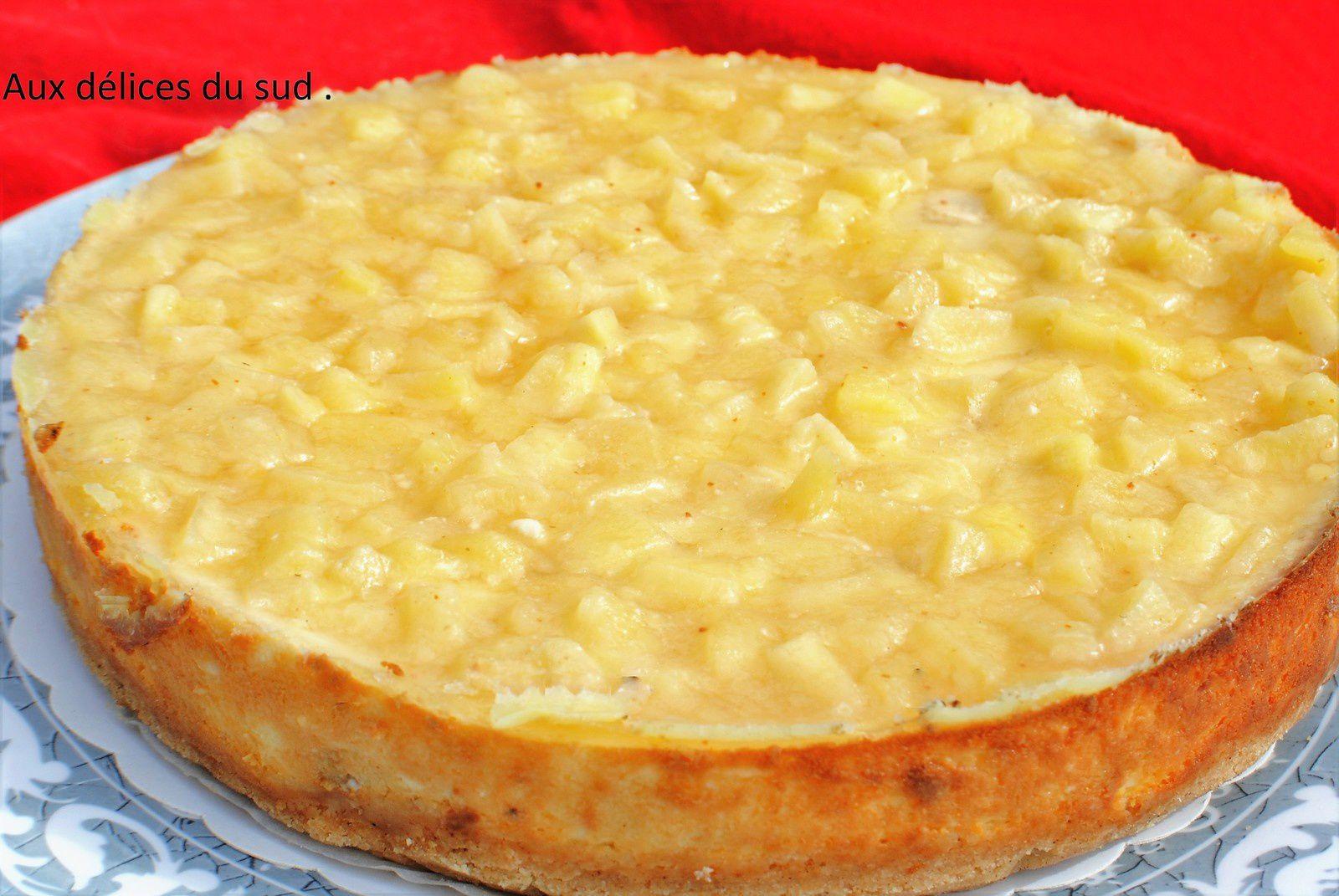 Cheesecake aux pommes beurre salé et  piment d'Espelette .Pour Caroline .
