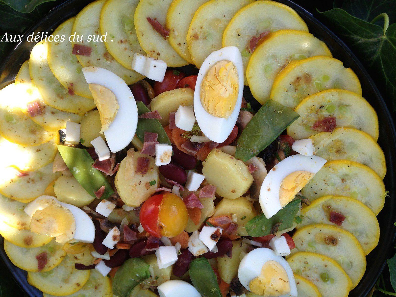 Salade composée .