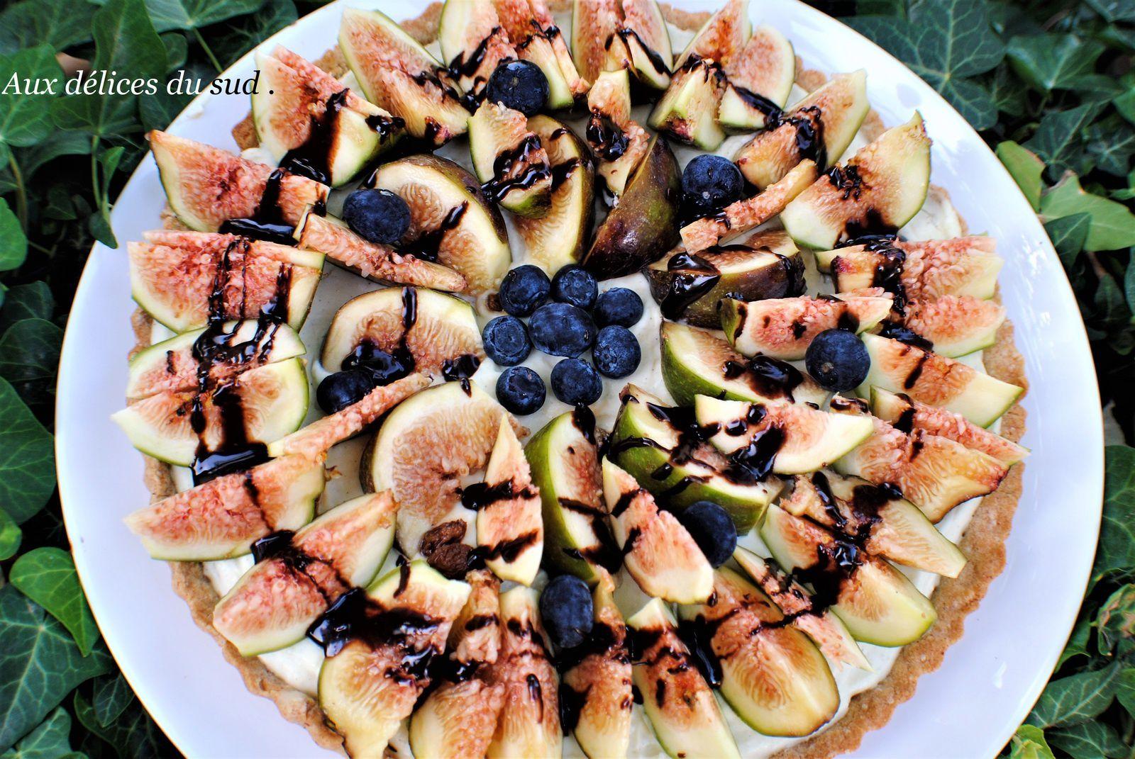Tarte aux figues et tonka .