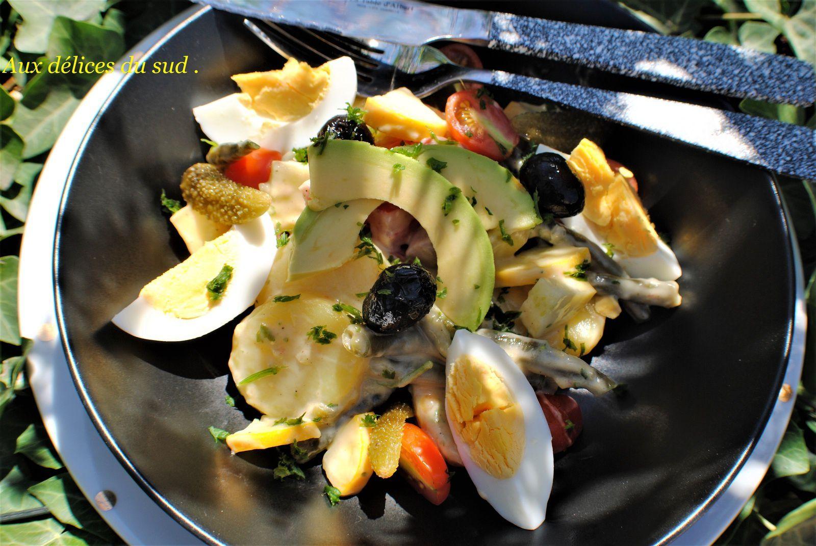 Salade composée à l'aïoli .