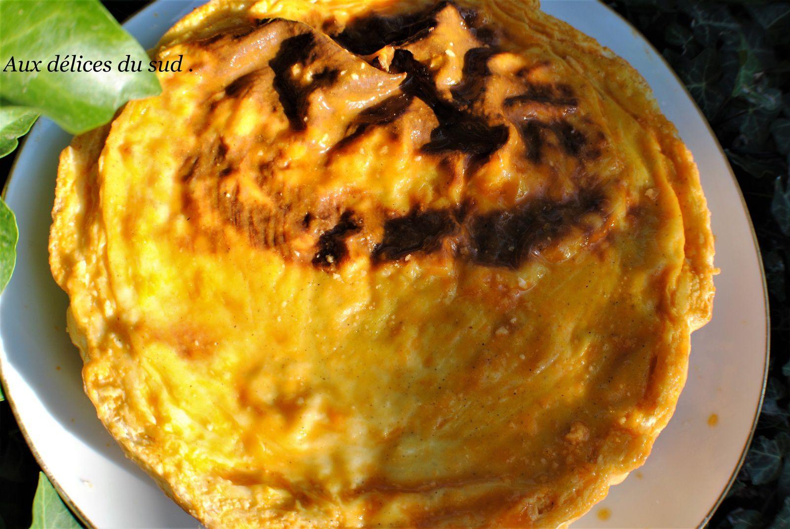 Flan pâtissier aux abricots .