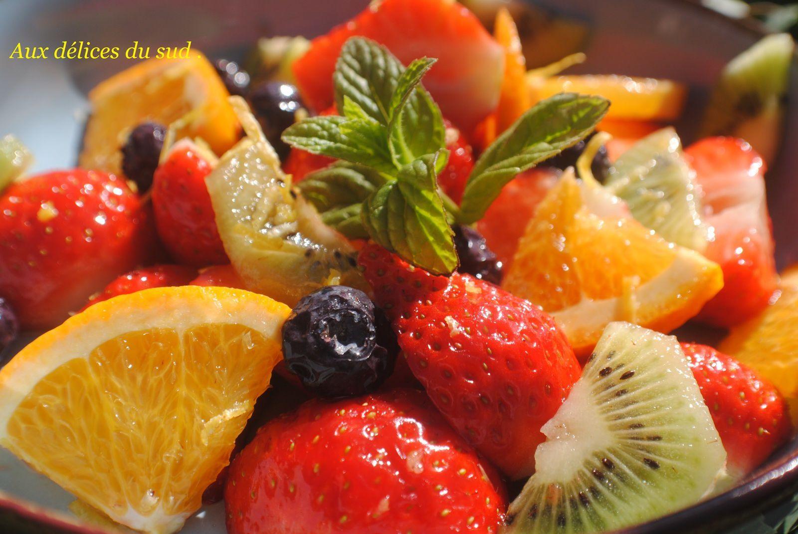 Salade de fruits .