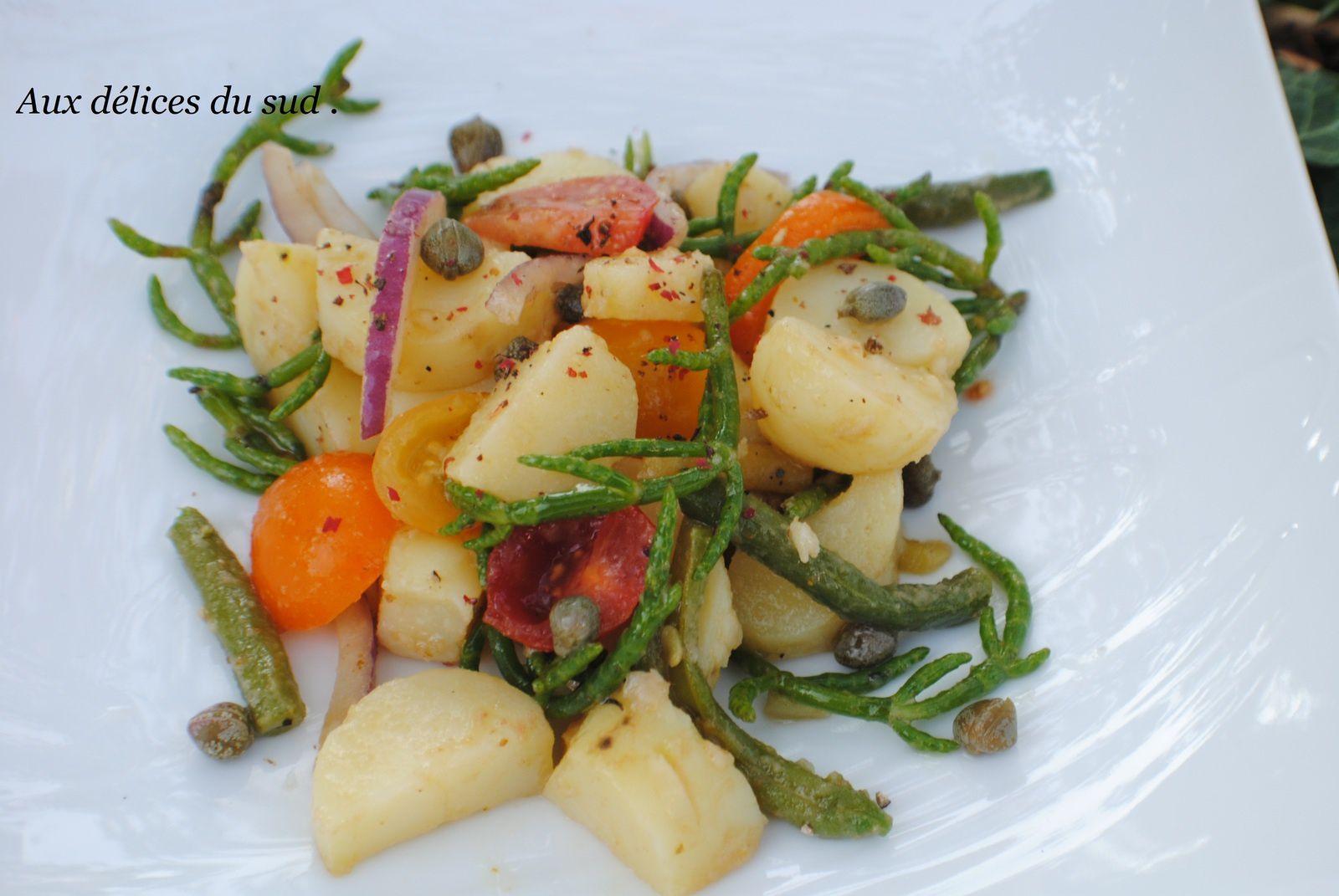 Salade de pommes de  terre à la salicorne .