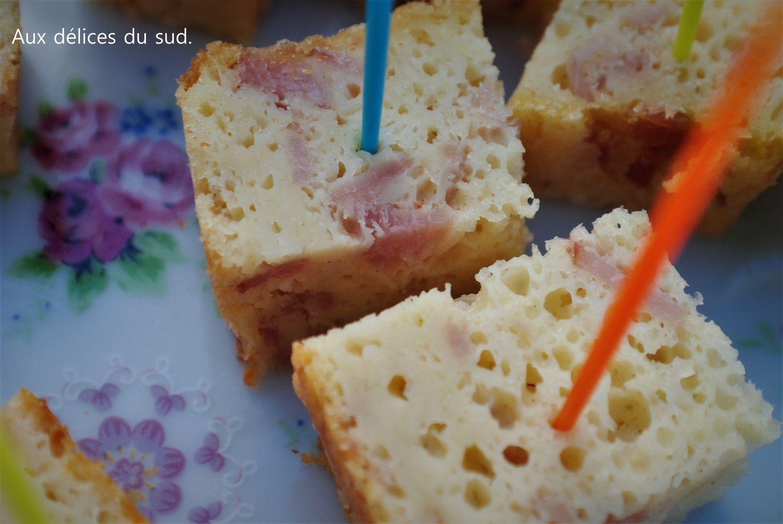Cake au  bacon  pour apéro dinatoire .