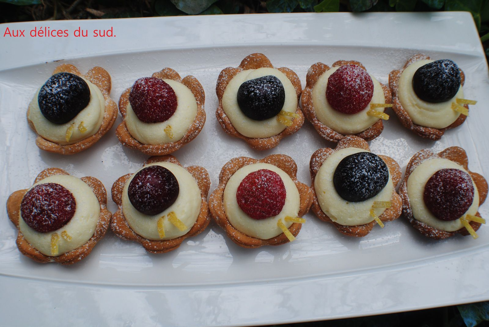 Mini tartelettes aux fruits .