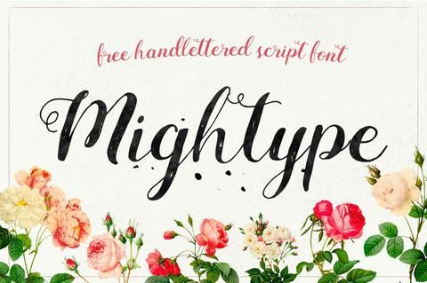http://creativebooster.net/collections/freebies/products/mightype-free-handlettered-script-font-by-af-studio