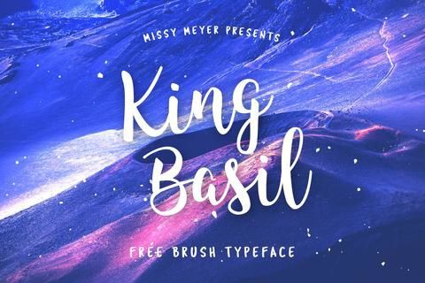http://creativebooster.net/collections/freebies/products/king-basil-free-brush-font