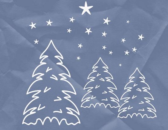 Des brushes Photoshop sur le thème de Noël