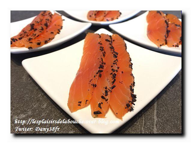 Saumon gravlax truffé
