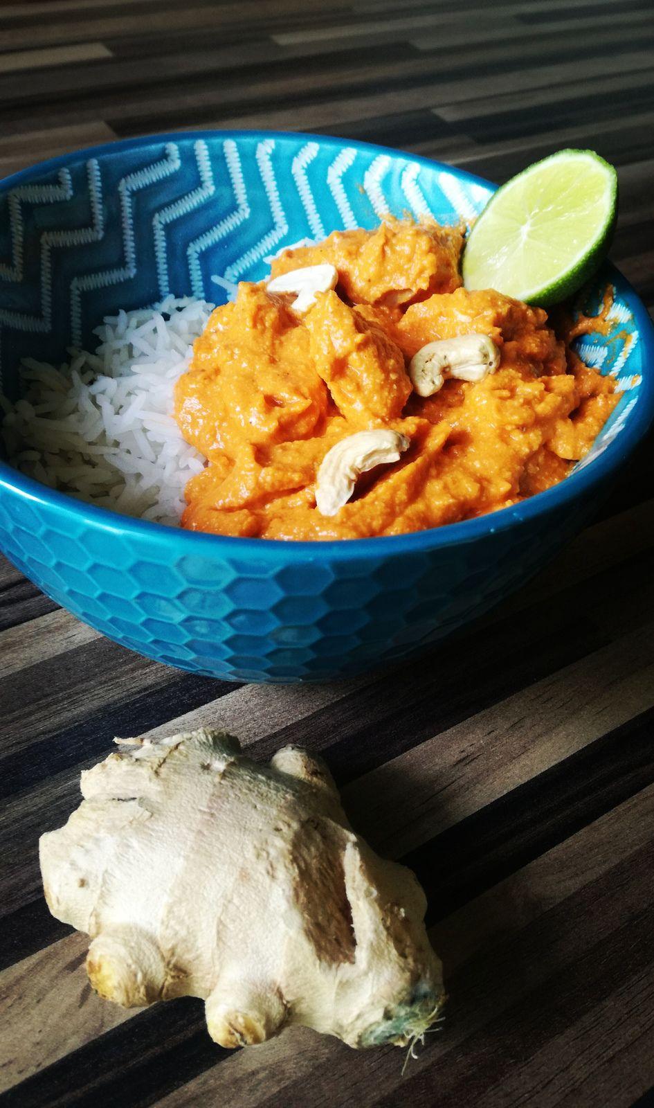 Butter chicken: poulet indien sauce aux noix de cajou