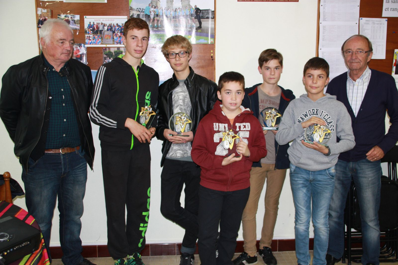 Les  récompensés  avec  Claude  RENOUX  et  Claude  GILARDEAU