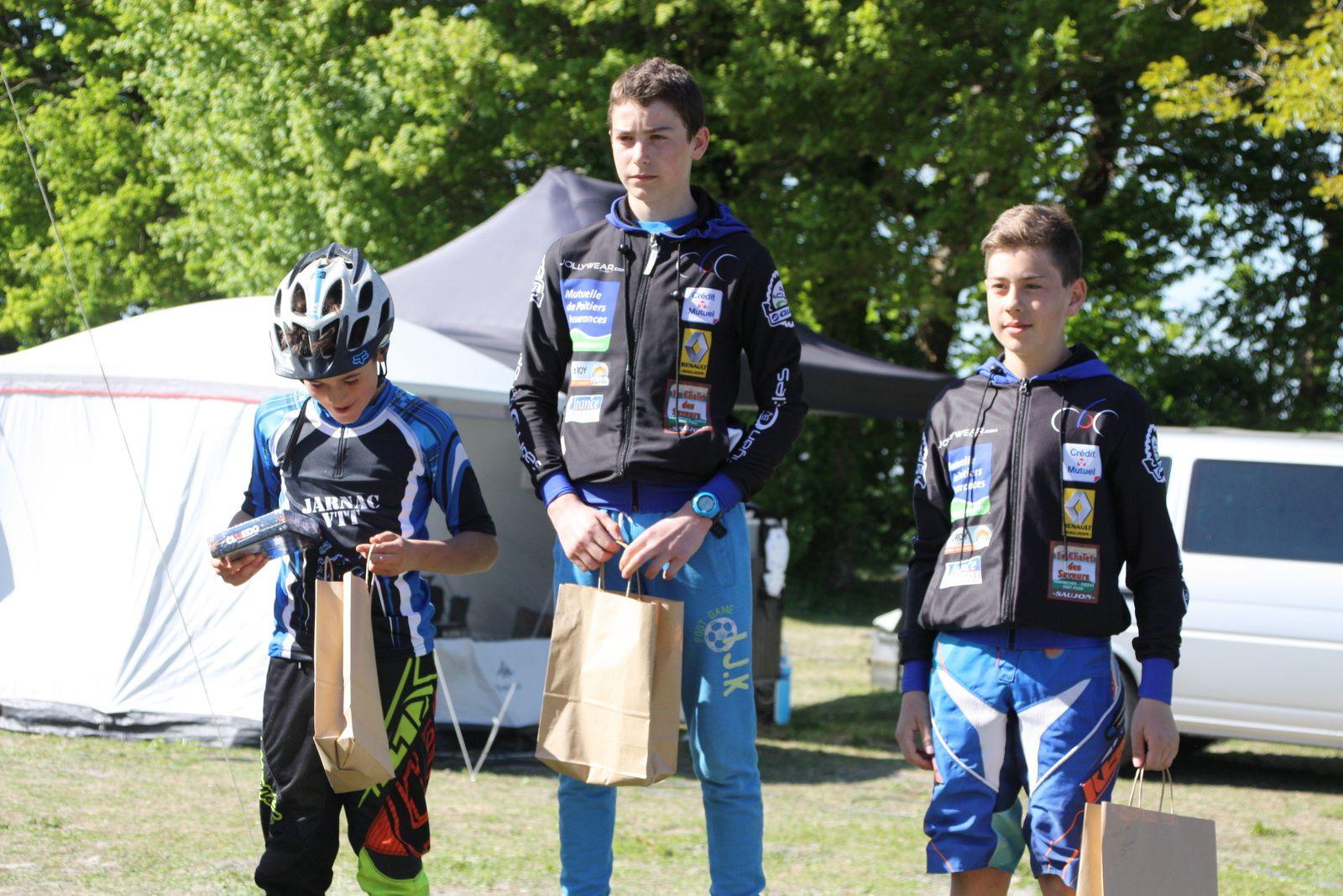 Podium  Minimes  =  1er  Timothy  BAUGE(Côte de Beauté C), 2e  Mathis  LANDREAU(Jarnac VTT), 3e  Thomas  BOUCHETR(Côte de Beauté C), 4e  Antoine  BOUCHER (Côte de Beauté C), 5e  Guewenn  BOUTHET(Jarnac VTT), 6e  Melvin  CHAIGNAUD(Jarnac  VTT), 7e  Antonin  LADEUIX(Côte de Beauté C), 8e  Mathis  SOUPE(Jarnac  VTT), 9e  Valentin  ZINSZNER(Jarnac  VTT), 10e  Maxence  DUBREUIL(Jarnac  VTT), 11e  Alexis  LE PADRUN(AC  Nieul les Saintes).R