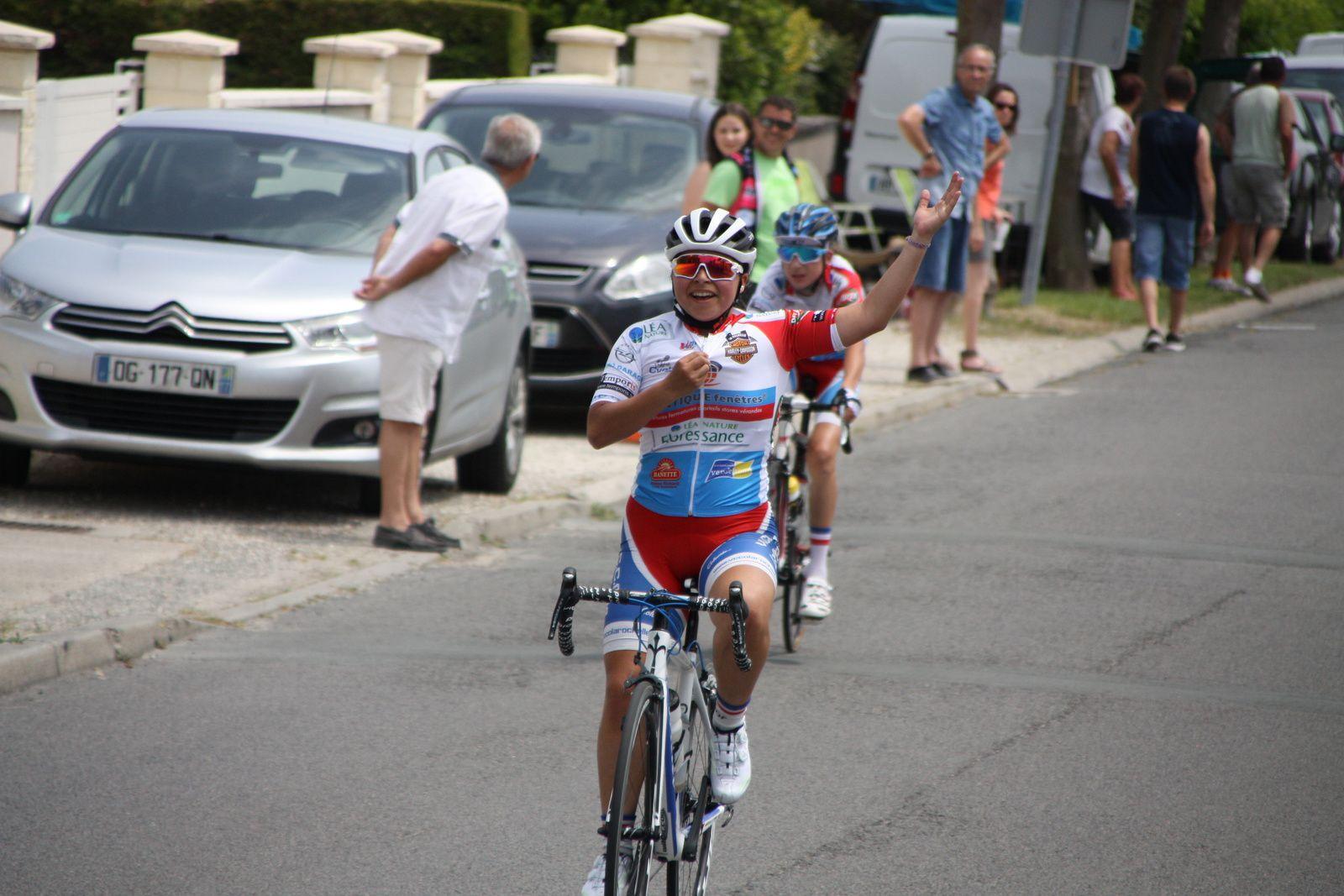 7e  Julie  LE GASTREC(VC  Charente-Océan), 8e  Julien  CORDELOIS(VCCO)