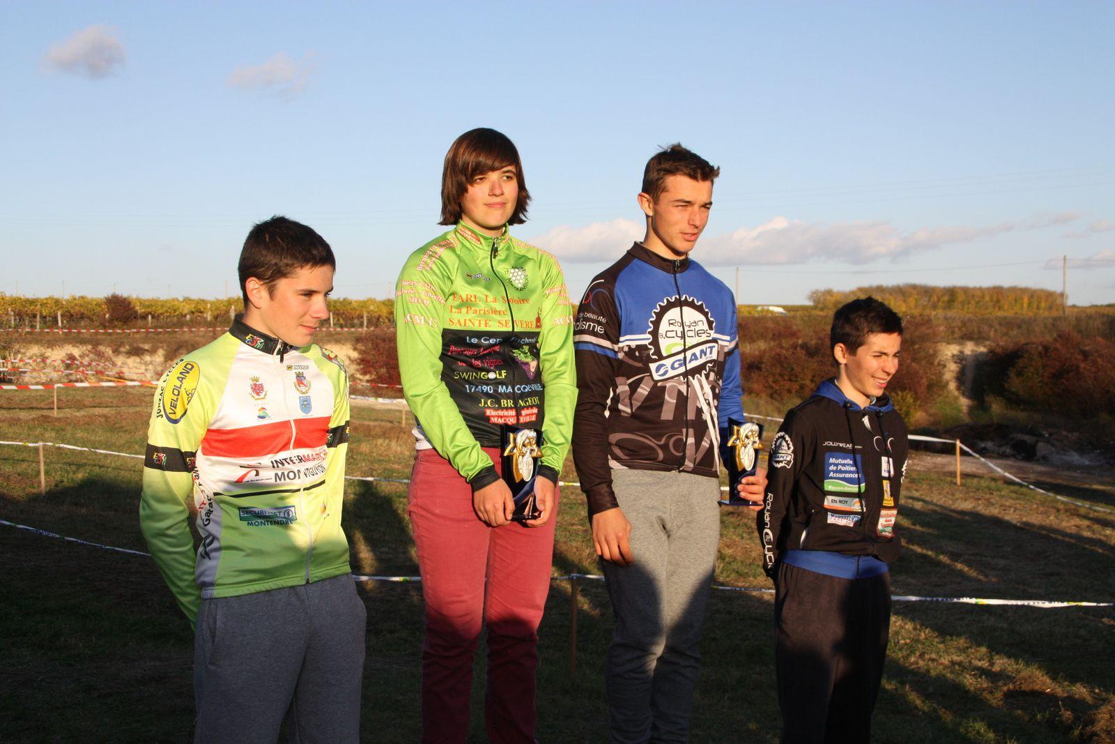 Le  podium  Cadets