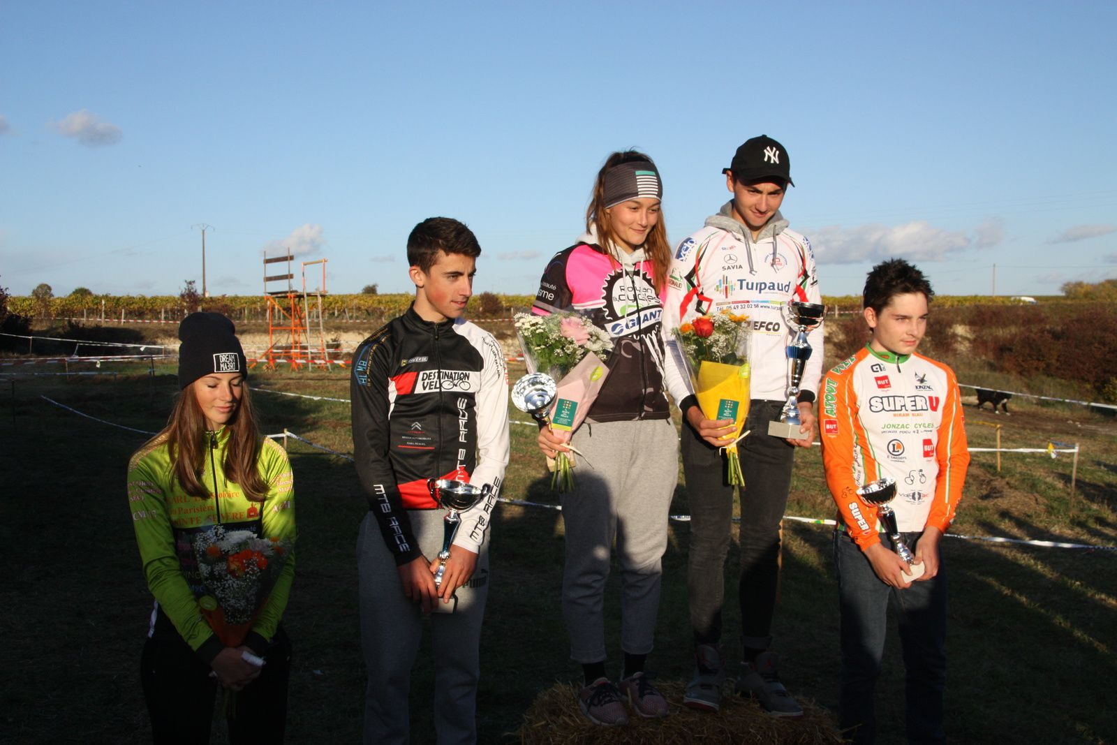 Le  podium  Juniors