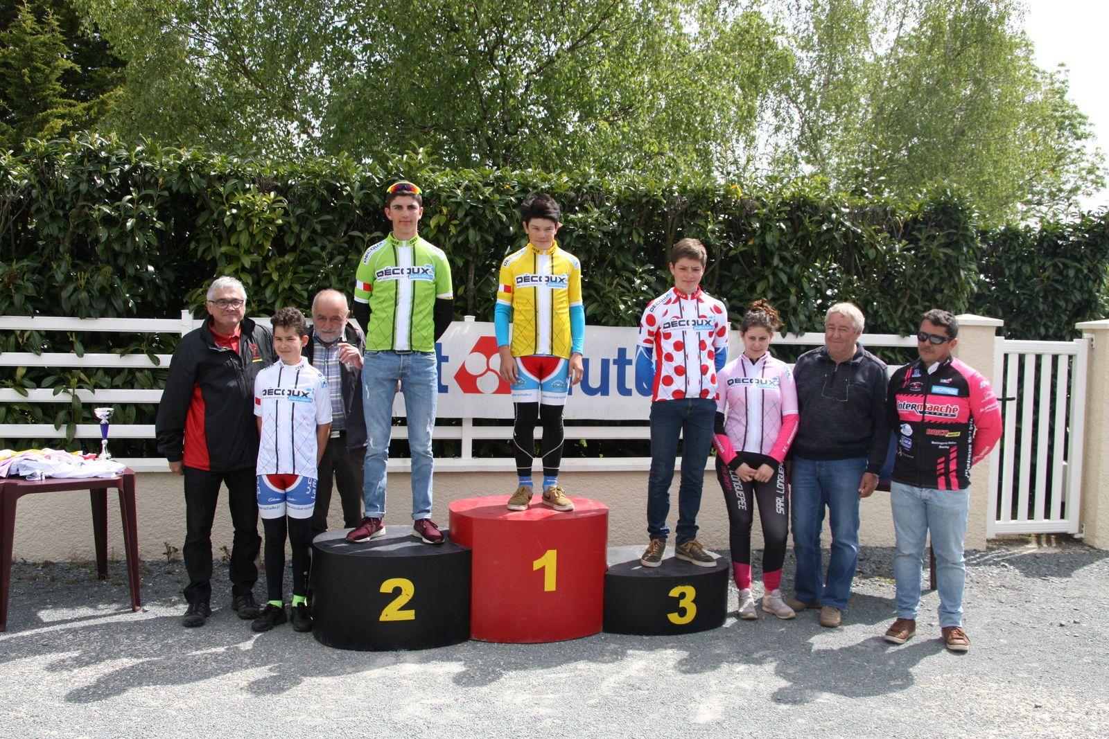 Le  podium  du  challenge  Decoux