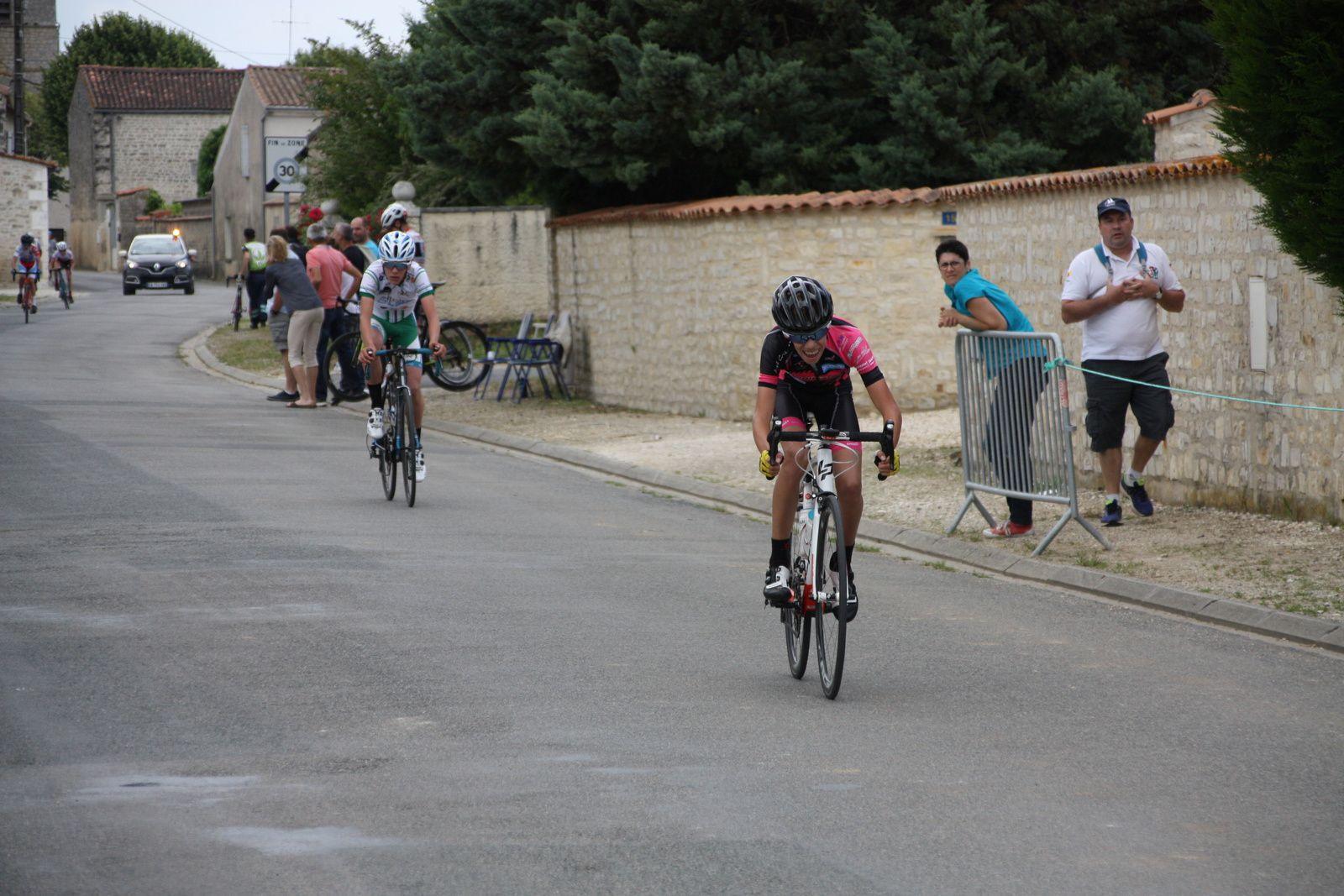 9e  Romain  LAPOUGE(CAM  Bordeaux), 10e  Julian  BLANCHON(Angouléme  VC), 11e Hugo  BRUGIER(V  Naintre), 12e  Hugo  BRUNET(UCC  Vivonne), 13e  Mathéo  BONNIN(CC  Vervant), 14e  Thomas  PHILIPPON(G  Mansle), 15e  Simon  BACHELIER(UCC  Vivonne), 16e  Théo  DEZERABLE(Mérignac  VC), 17e  Gaétan  LAGARRE(VC  Saintes), 18e  Hugo  LANCRY(VC  Rochefort), 19e  Paul  CONOR(VC  Rochefort), 20e  Maxime  RETAILLEAU(UC  Condat)