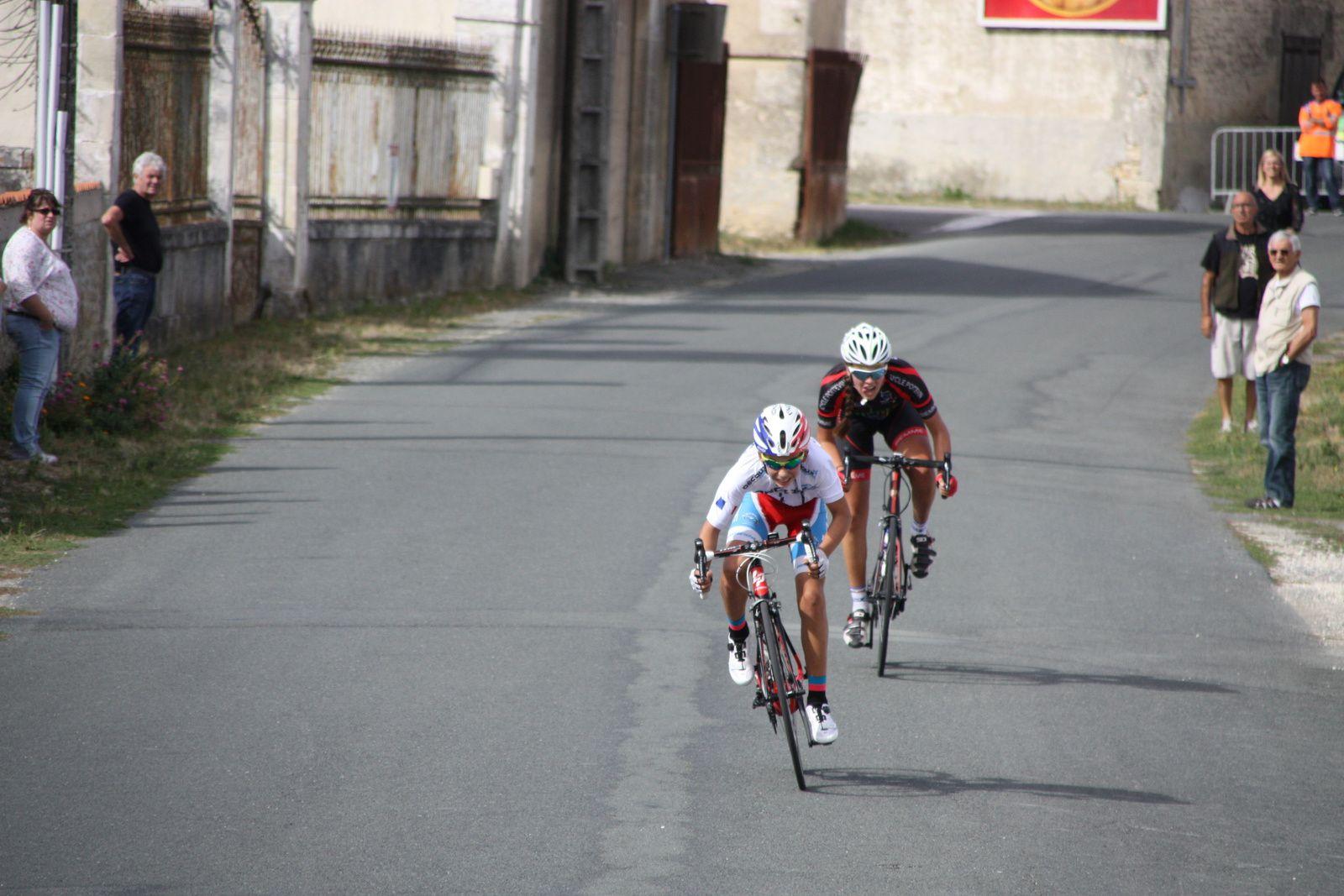 6e  Kilian  CLERJEAUD(VC  Charente-Océan), 7e  Maélys  LEGENDRE(C  Poitevin), 8e  Romain  ROSELLO(Côte de Beauté C), 9e  Tristan  DUFROS(VCCO), 10e  Franck  CAILLAUD(VC  Saintes), 11e  Aymeric  FROMAGET(CR  Pouzauges), 12e  Martin  GRANDRIE(P  St  Florent), 13e  Maxence  ANNONIER(P  St  Florent), 14e  Maxence  PAUL(VC  Rochefort), 15e  Théo  RENAUDET(VC  Rochefort), 16e  Pauline  FAURE(AC  Macqueville), 17e  Melissa  NESTER(VC Les Herbiers), 18e  Eva  COLLET(VC  Rochefort).
