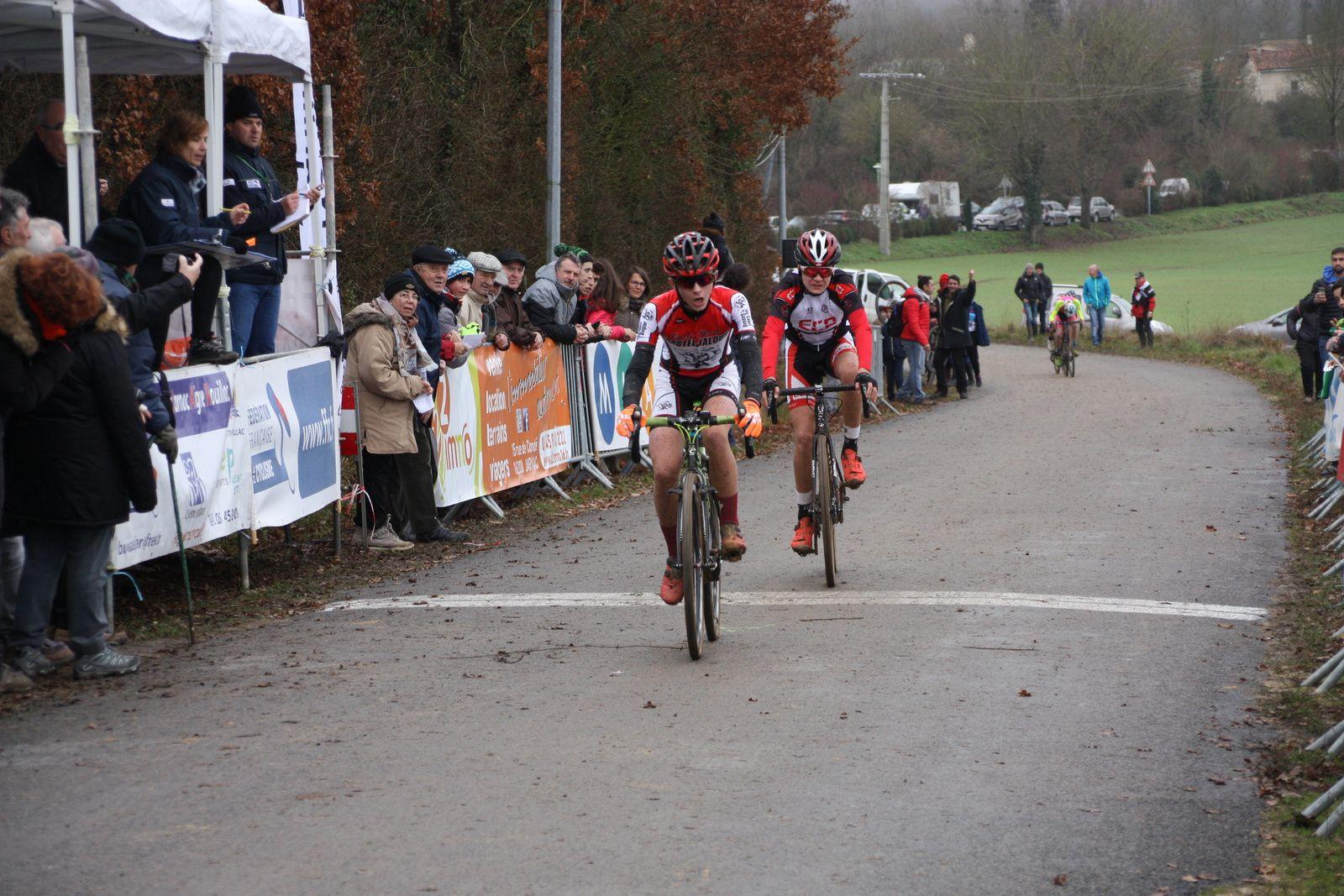 2e  Romain  PECONDON(CS Casteljaloux), 3e Julien  AZILE LOZACH(EC Ambazac)