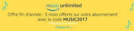 amazon music unlimited gratuit 3 mois offerts