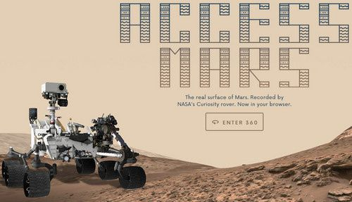 access mars with google