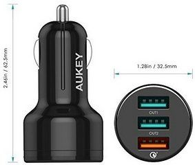 chargeur voiture aukey quickcharge