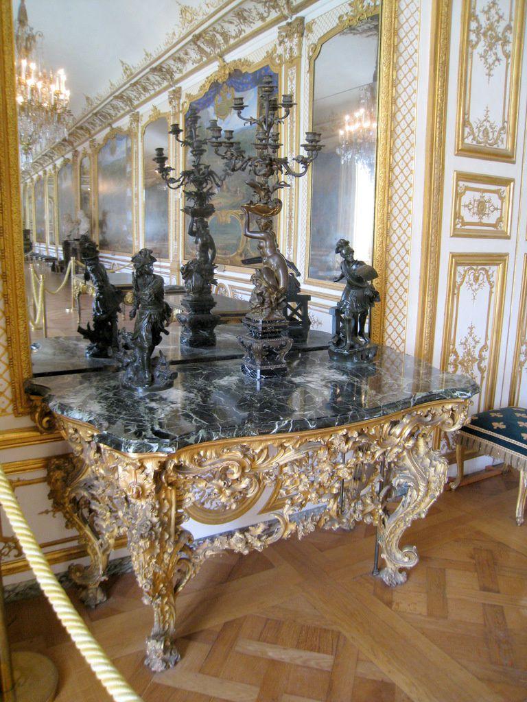 Console de la galerie des batailles (1/2), château de Chantilly