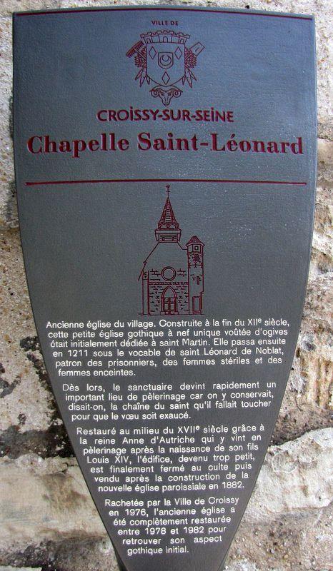 Chapelle Saint-Léonard-et-Saint-Martin, Croissy-sur-Seine