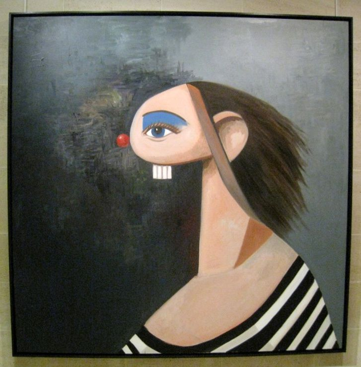 Abstract portrait, George Condo