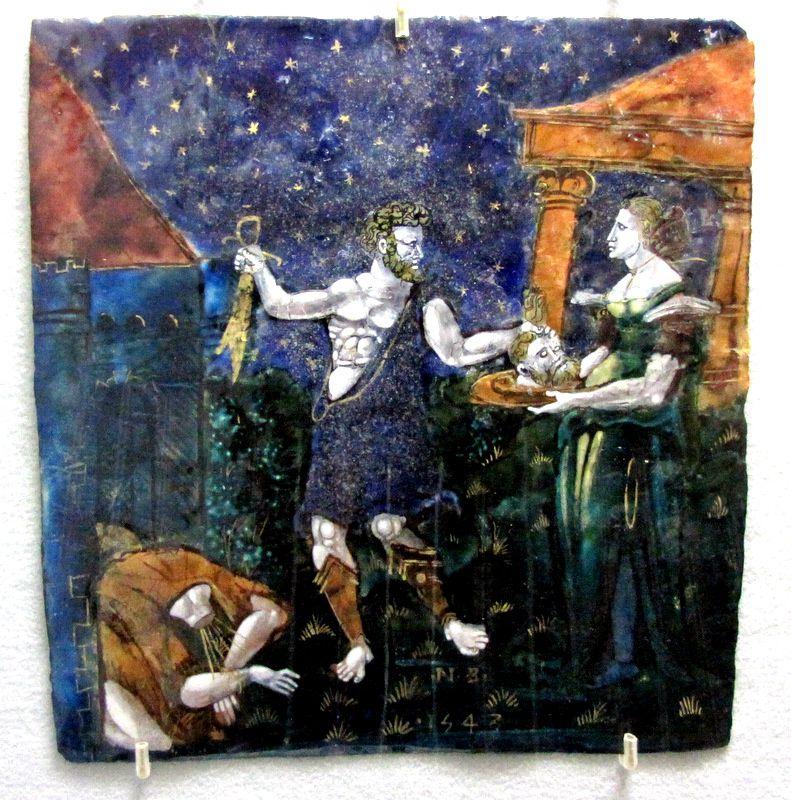 Eléments d'un retable (émail peint sur cuivre de Maître NB), château d'Ecouen