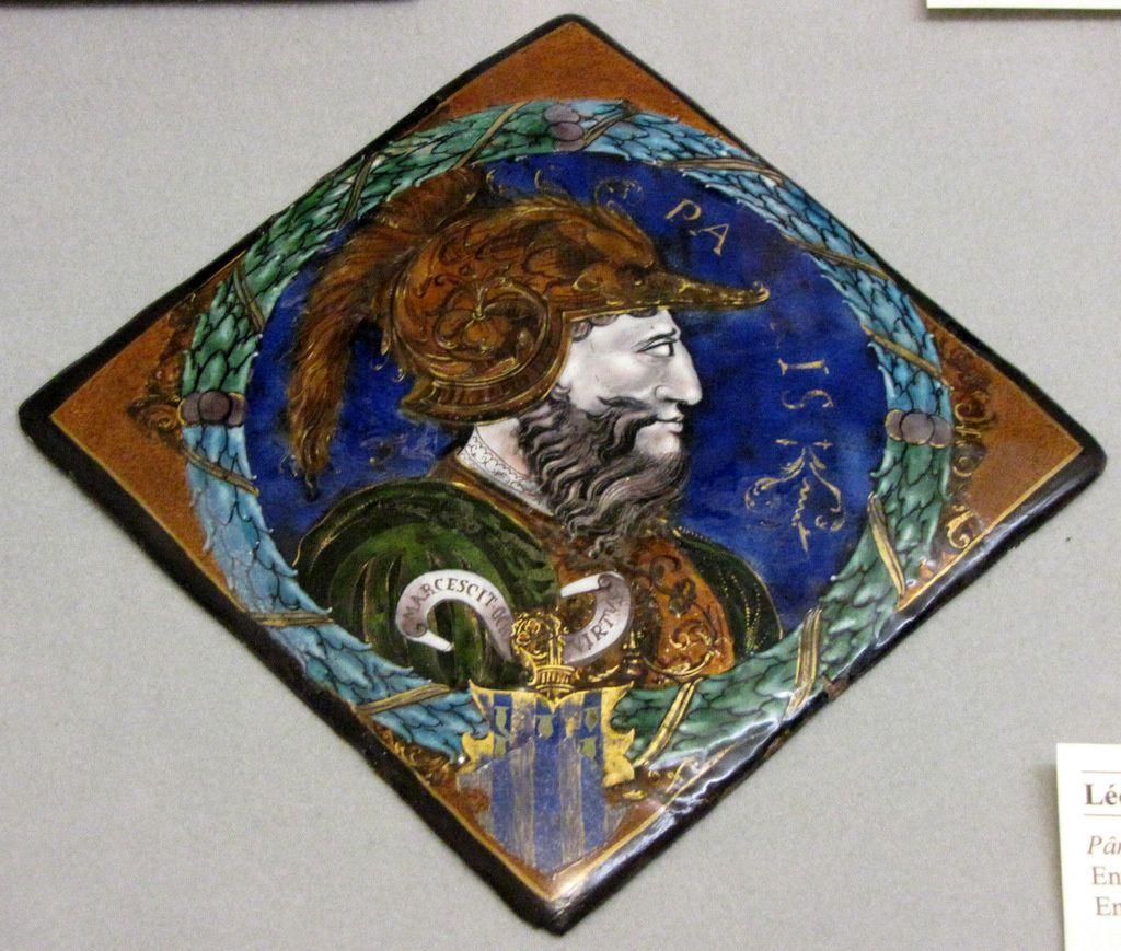 Pâris (émail peint sur cuivre par Léonard Limosin), château d'Ecouen