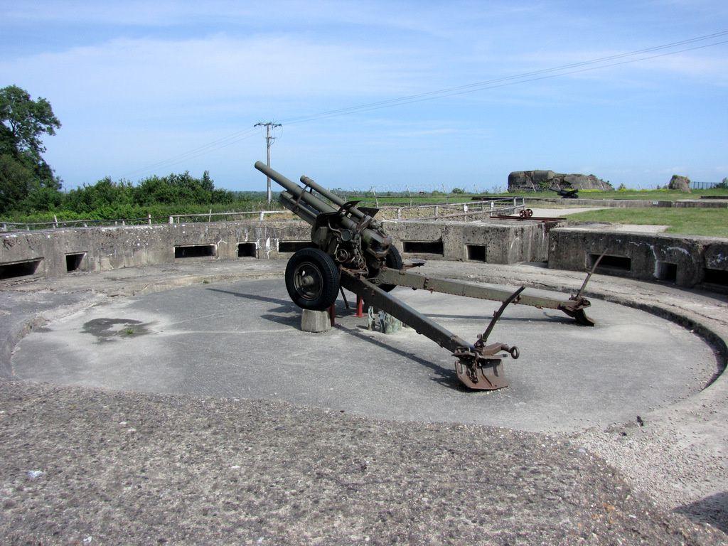 Canon de 105mm espagnol, batterie de Crisbeck (Saint-Marcouf)