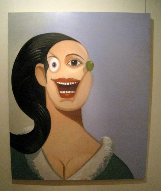Smiling Girl with Black Hair (2008), George Condo