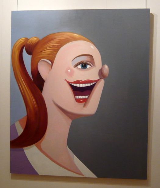 Smiling Girl with Ponytail (2008), George Condo