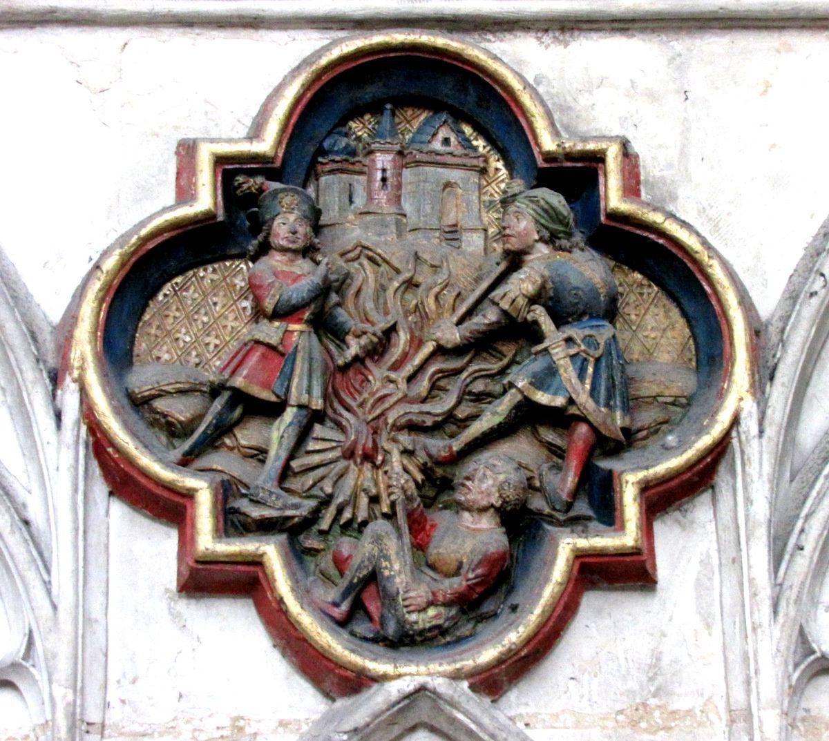 Histoire des reliques de St Jean Baptiste, cathédrale d'Amiens