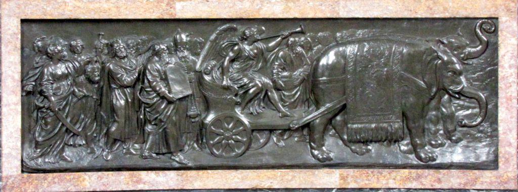 """Bas-relief """" le Triomphe de la Renommée """""""