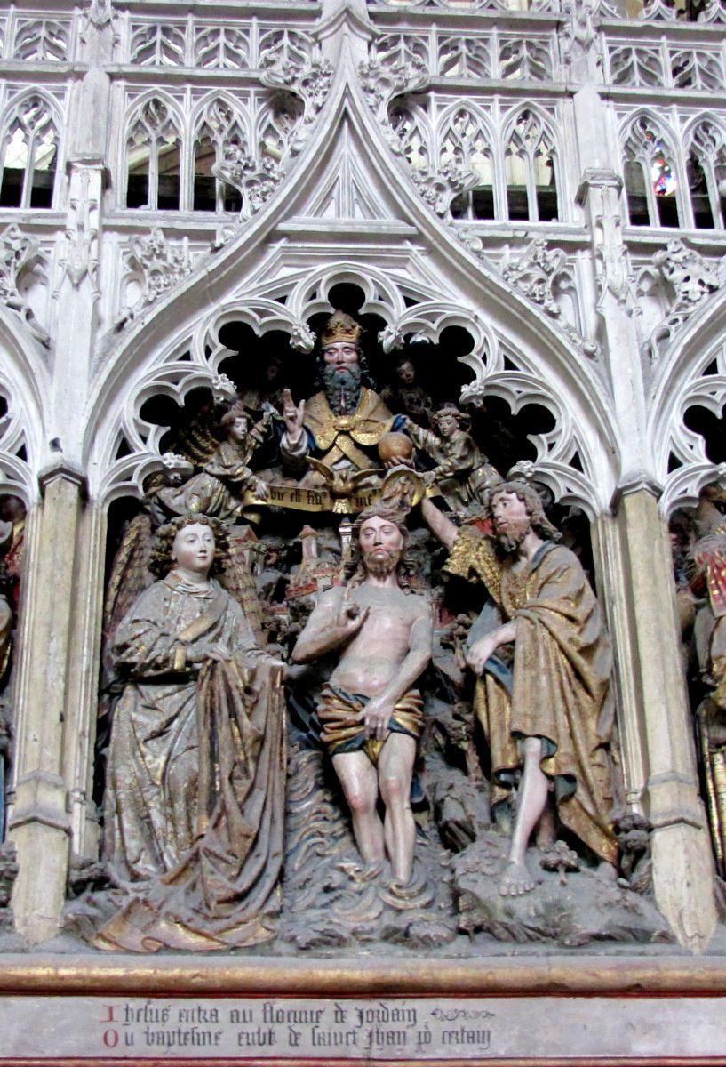 Histoire de St Jean Baptiste (2/2), cathédrale d'Amiens
