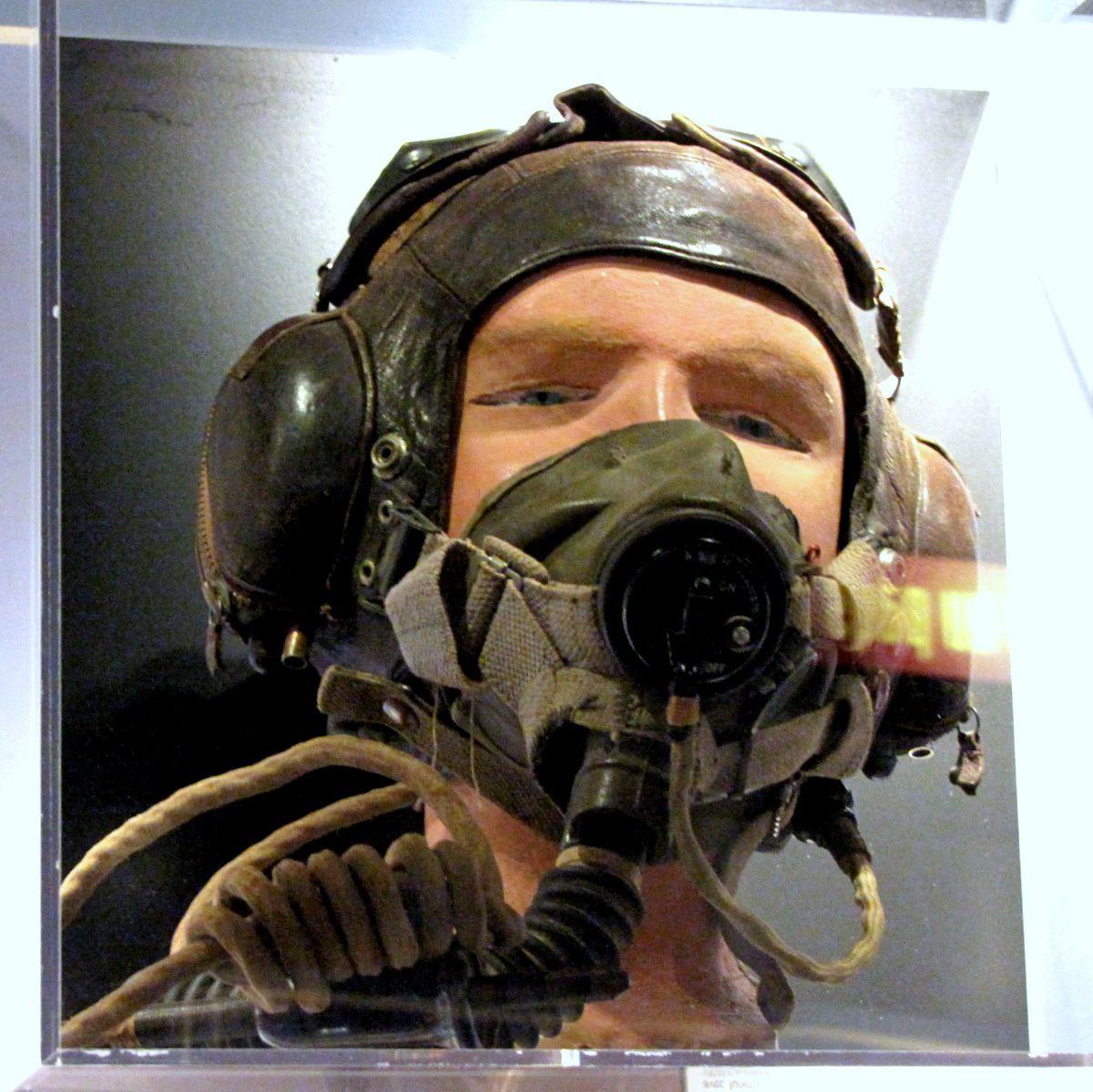 Casque d'aviateur de l'ARC, centre Juno Beach