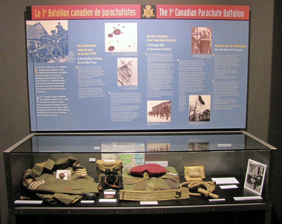 Béret marron du 1er Bataillon canadien de parachutistes