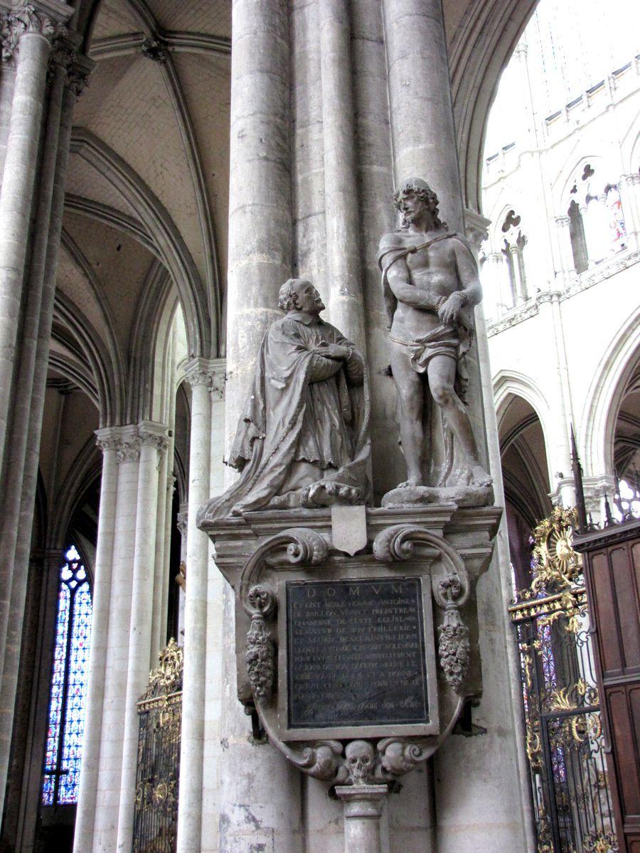 Tombeau d'Antoine de Baillon, cathédrale d'Amiens