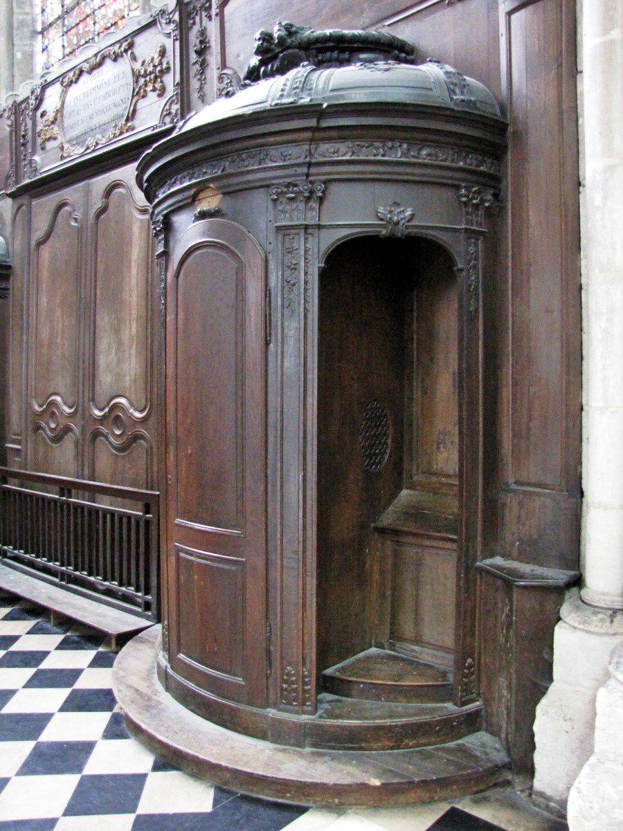 Confessionnal de la cathédrale d'Amiens