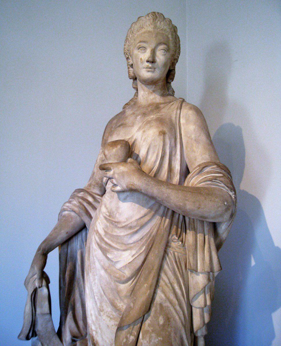 Madame Du Barry tenant le coeur dr Louis XV (Augustin Pajou)