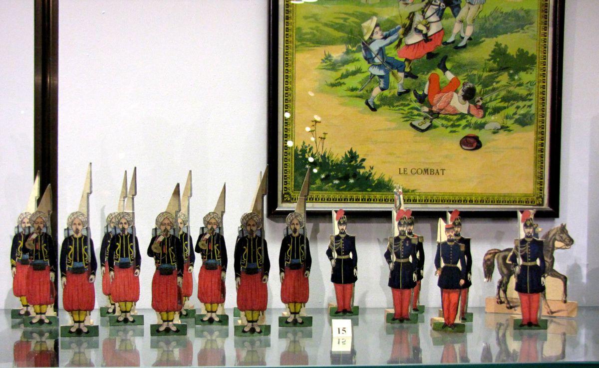 Soldats cartes (Silbermann et Pellerin), musée du jouet de Poissy
