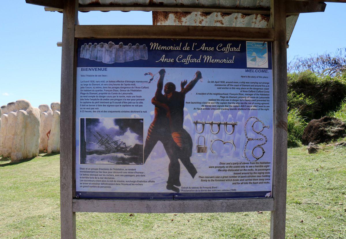 Mémorial de l'Anse Caffard, Cap 110 (Martinique)