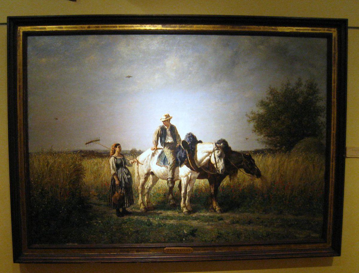Le retour des champs, tableau de Jules Jacques Veyrassat
